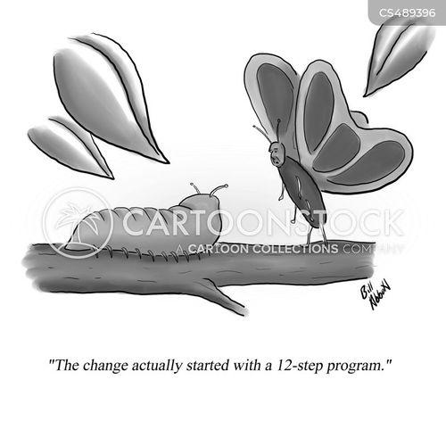 twelve step program cartoon