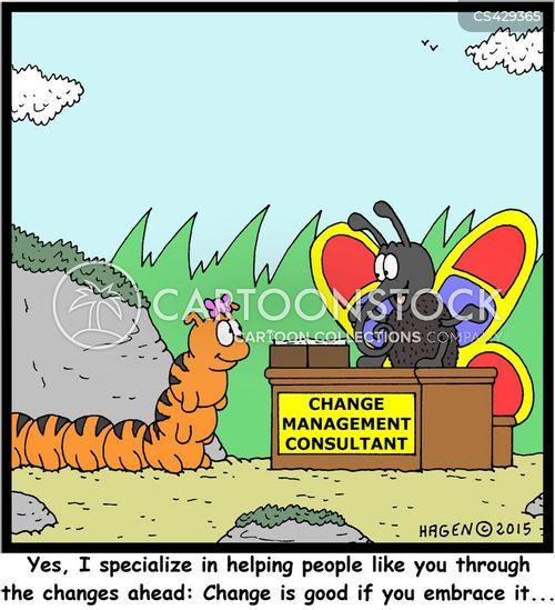 management change cartoon