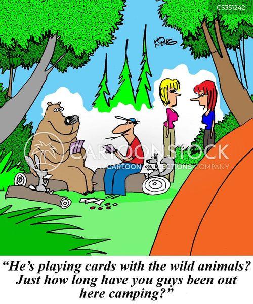 outdoorsman cartoon