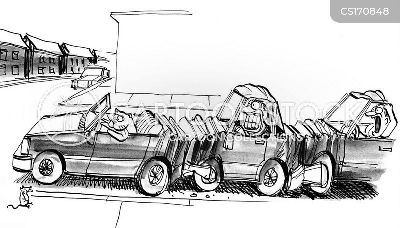 car accident cartoon