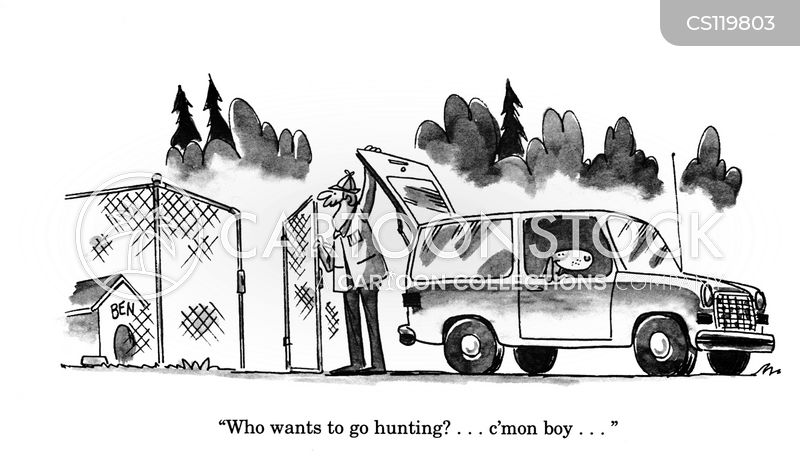 going hunting cartoon