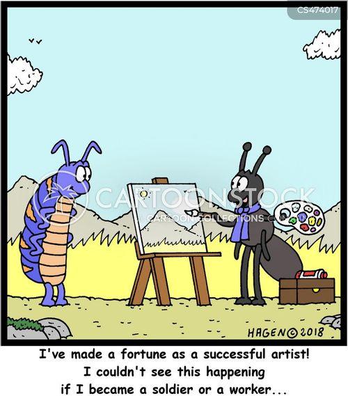 famous painter cartoon