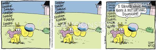 squeaky toys cartoon