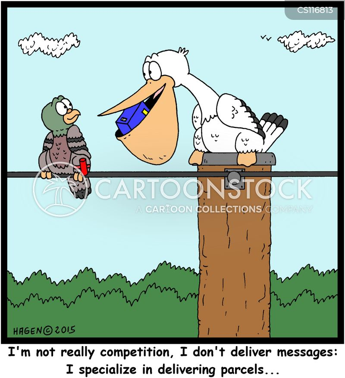 business rivals cartoon
