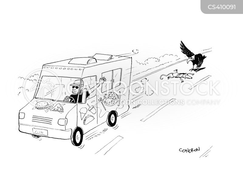 delivery van cartoon