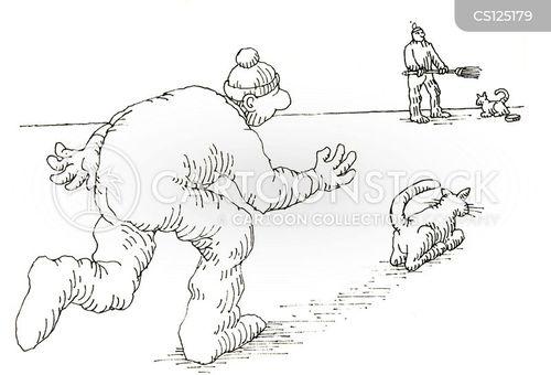 curled cartoon