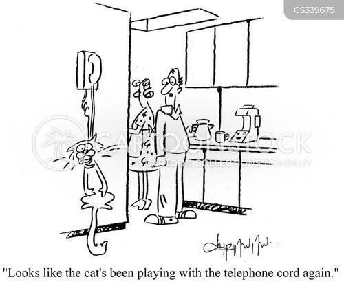 Telephone Cord Cartoons And Comics