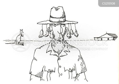 cork hat cartoon