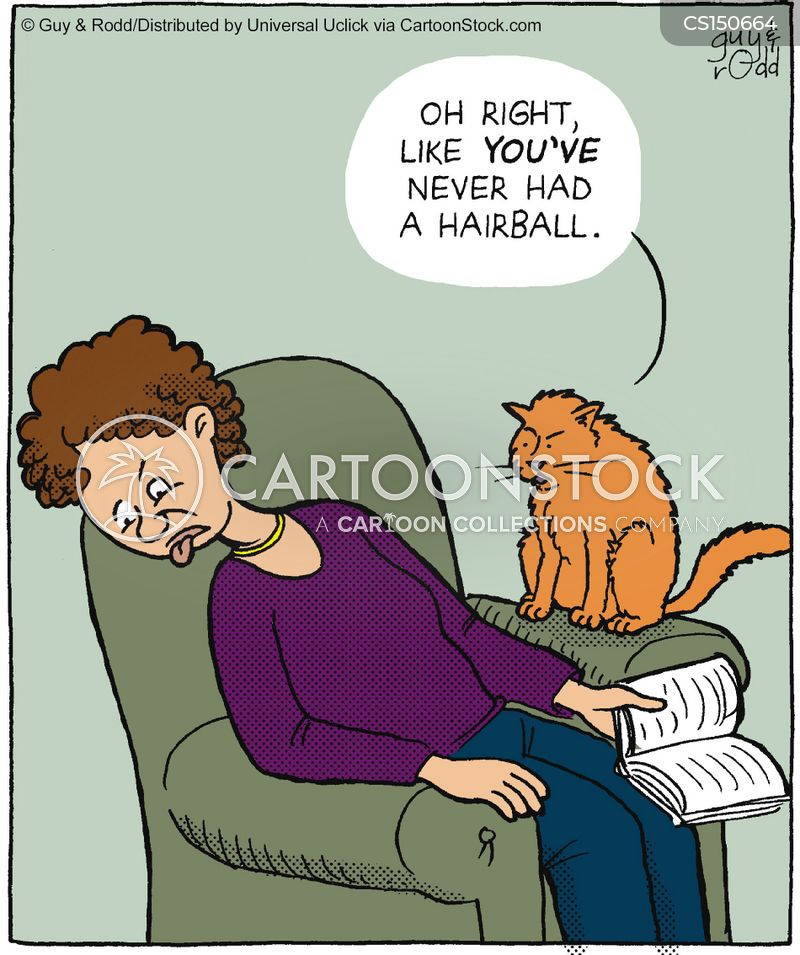 hairball cartoon