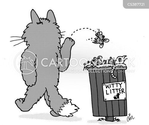 litter bin cartoon