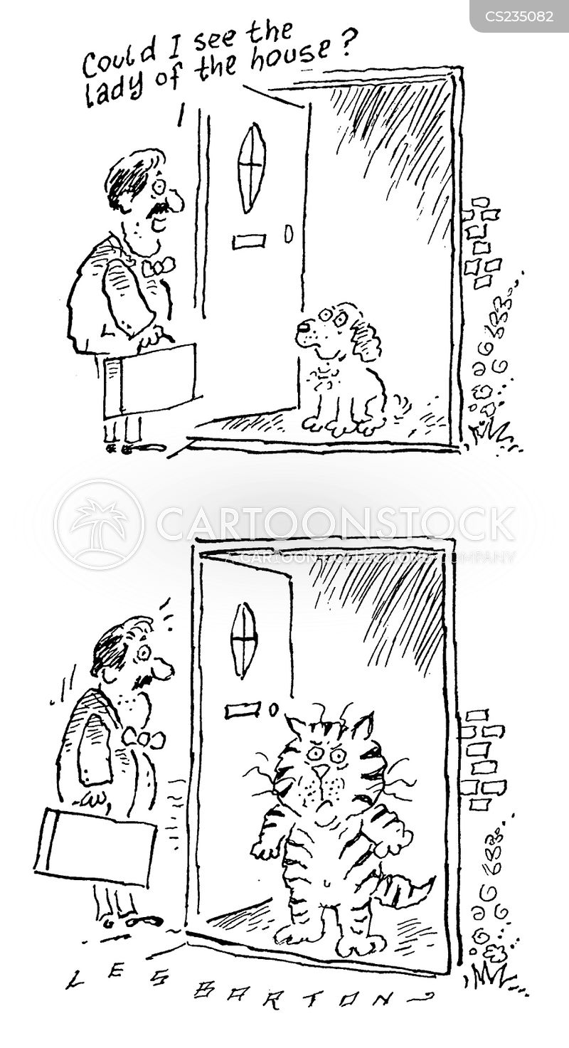 door knocking cartoon