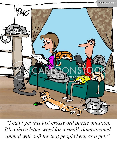 cross-words cartoon