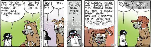 inspecting cartoon