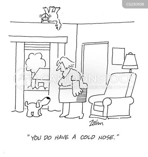 cold nose cartoon