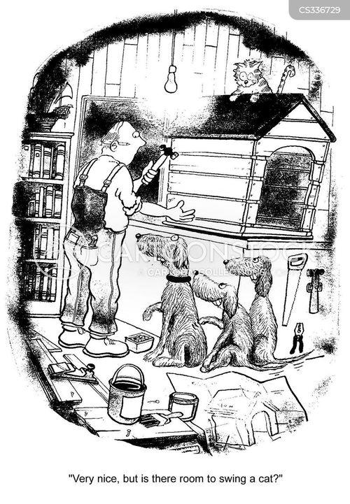 dog shelter cartoon