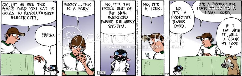 electric cables cartoon