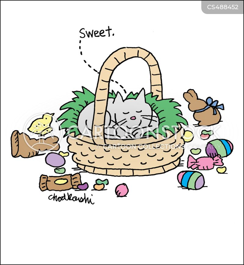easter baskets cartoon