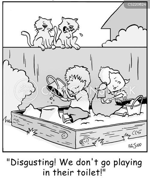 sand boxes cartoon