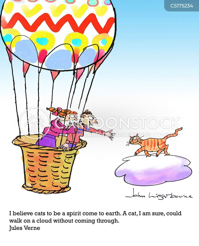 walking on clouds cartoon