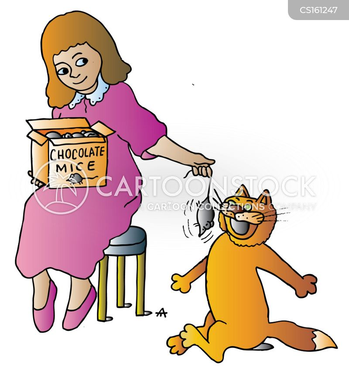 cat treat cartoon