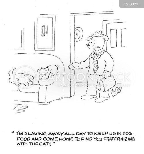 fraternizing cartoon