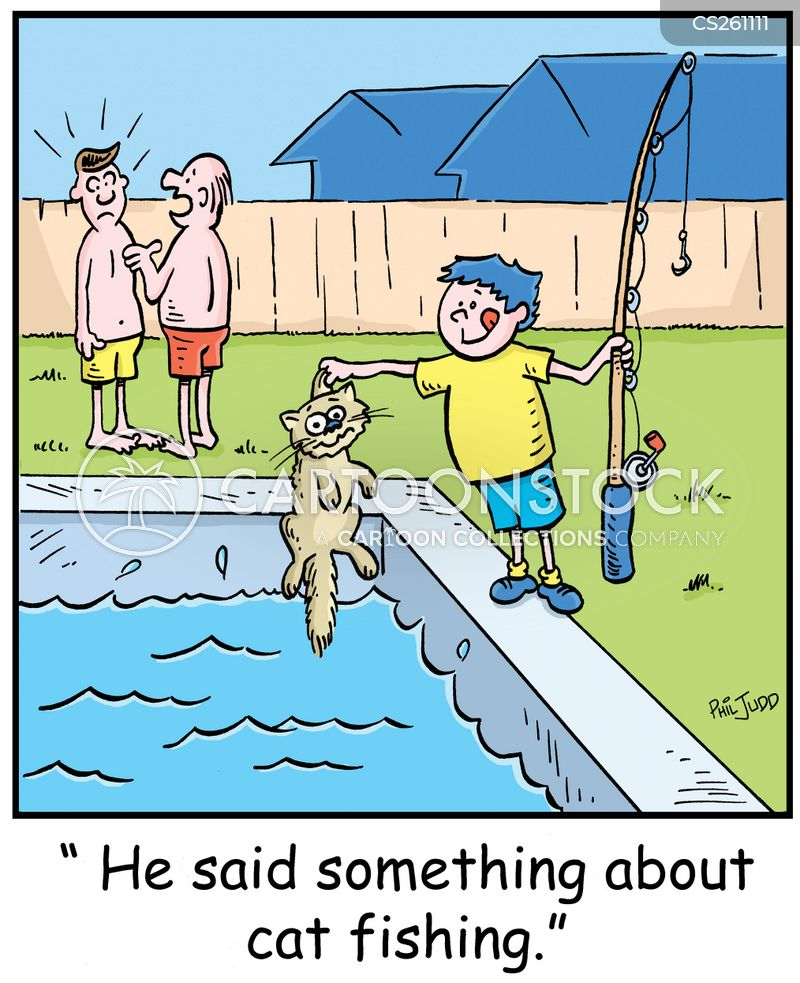 Cat fishing cartoons and comics funny pictures from for Funny fishing cartoons