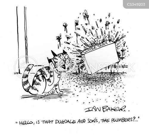 plumbing emergency cartoon