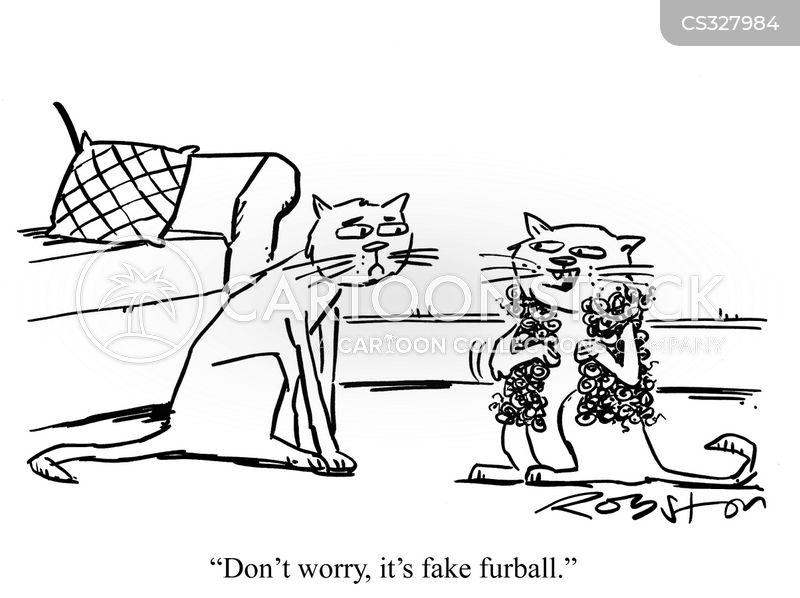 fur ball cartoon