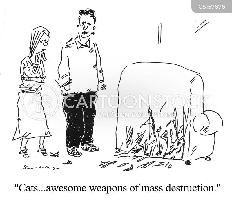 cat scratches cartoon