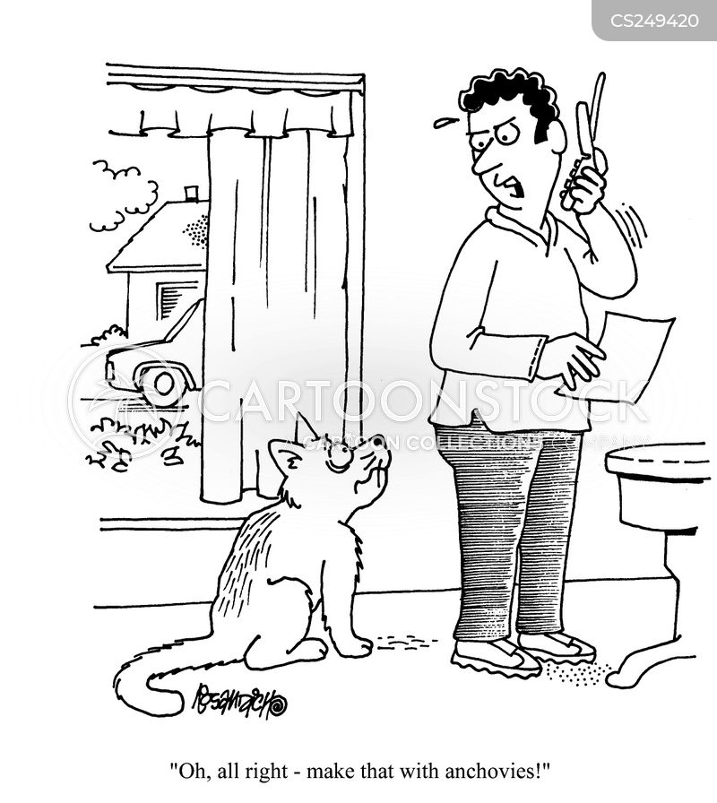 phone order cartoon