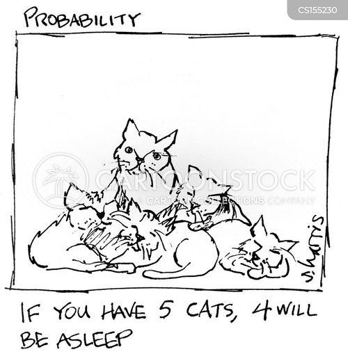 sleeping cats cartoon