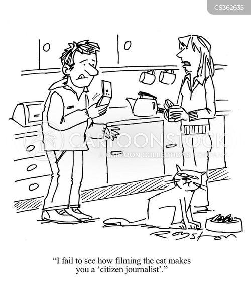 rolling news cartoon