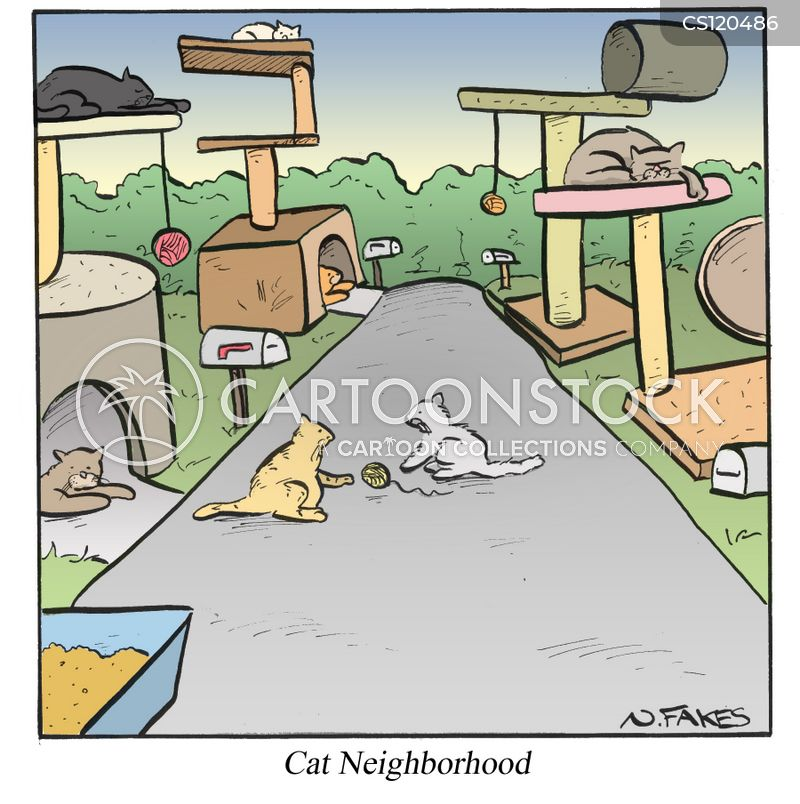 cat tree cartoon