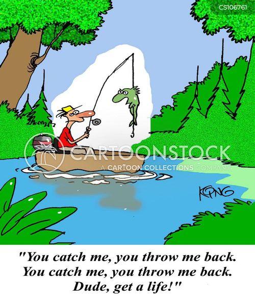 fishing lakes cartoon