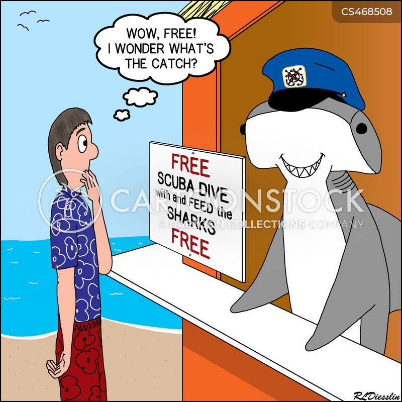 diving trip cartoon
