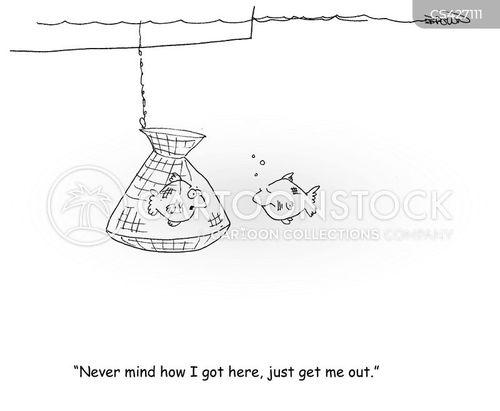 fishing nets cartoon