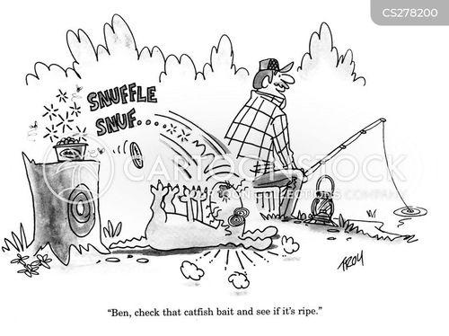 fishing bait cartoon
