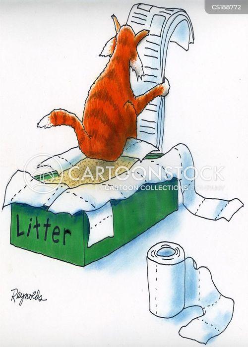 litter box cartoon