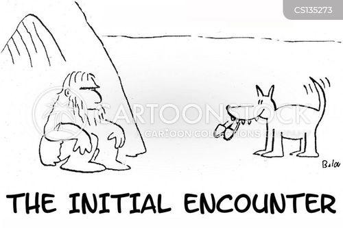first encounter cartoon