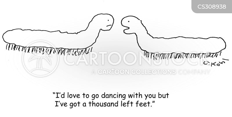 two left feet cartoon