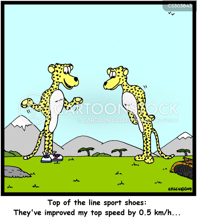 sports shoes cartoon