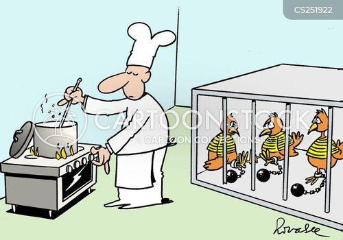 jail-bird cartoon