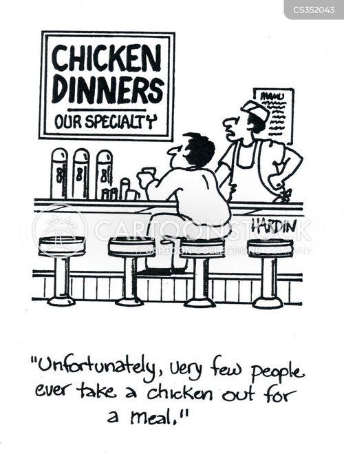 romantic meal cartoon