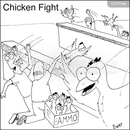 warring cartoon