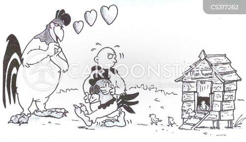 chicken house cartoon