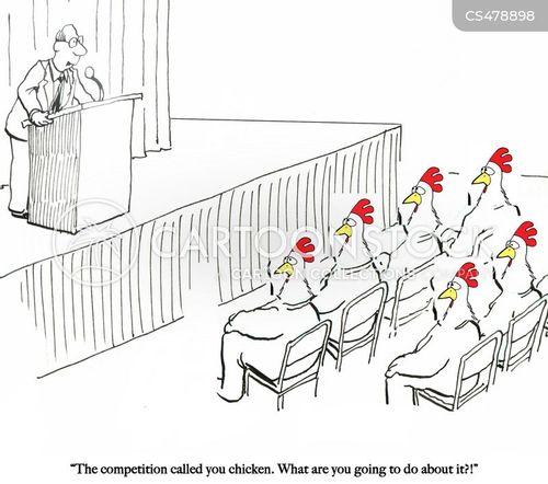 business market cartoon
