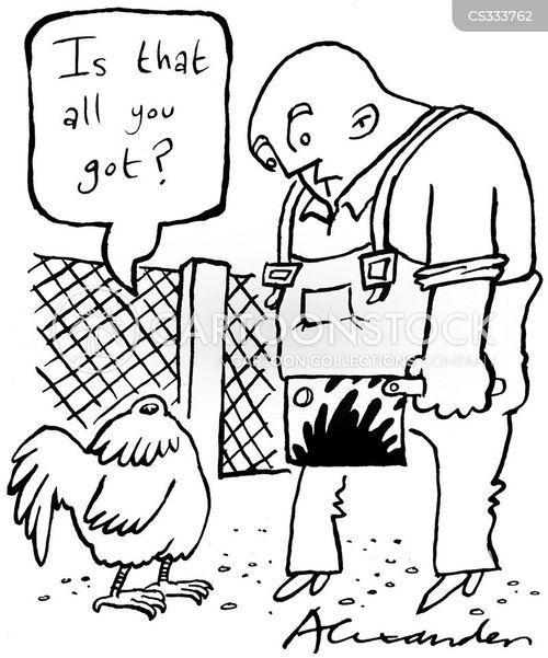 headless chicken cartoon