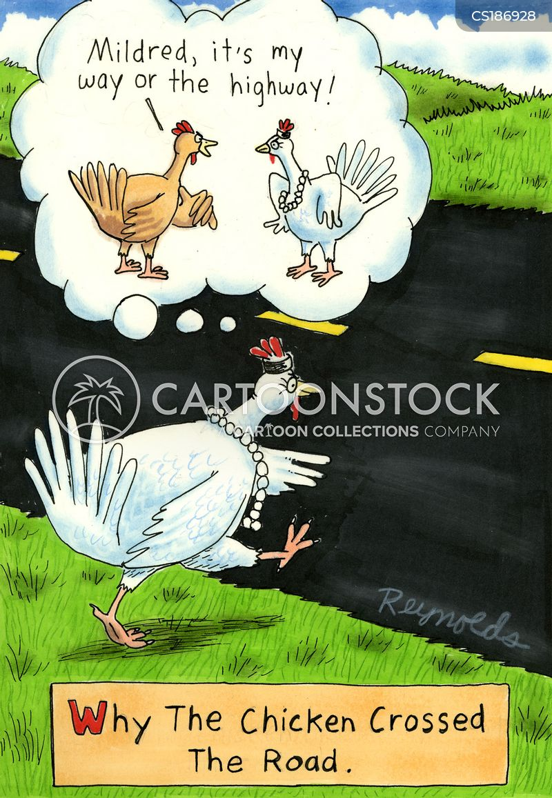 Why Did The Chicken Cross The Road Cartoons and Comics - funny ...