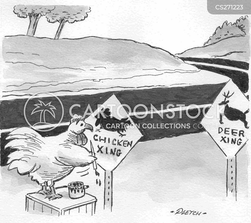 crossing sign cartoon