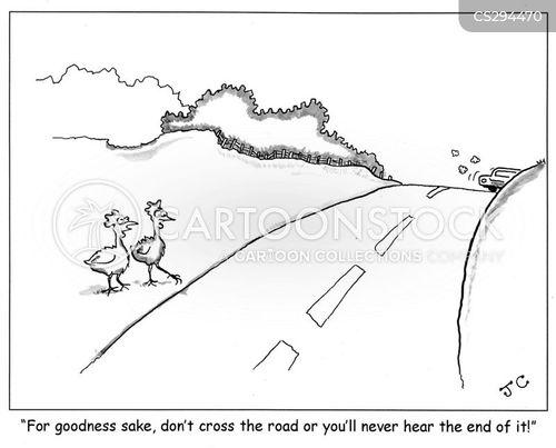 chicken roads cartoon